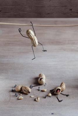Peanut People Stunt Gone Awry Journal - 150 Page Lined Notebook/Diary (Paperback): Cool Image