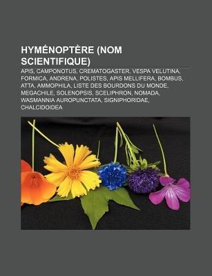 Hymenoptere (Nom Scientifique) - APIs, Camponotus, Crematogaster, Vespa Velutina, Formica, Andrena, Polistes, APIs Mellifera,...