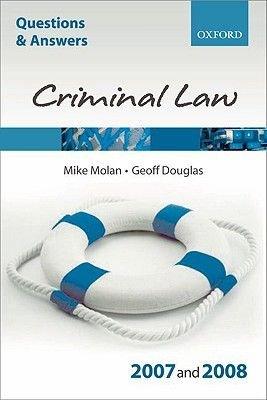 Criminal Law 2007-2008 (Paperback, Revised edition): Mike Molan, Geoff Douglas