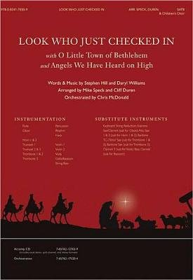 Look Who Just Checked in with O Little Town & Angels We Have Heard (Sheet music):