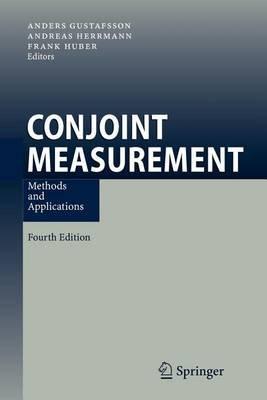 Conjoint Measurement (Paperback): Anders Gustafsson, Andreas Herrmann, Frank Huber
