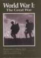 World War I - The Great War (Hardcover, Turtleback School & Library ed.): A. J Scopino