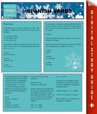 Spanish Verbs (Speedy Study Guides) (Electronic book text): Speedy Publishing LLC