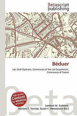 B Duer (Paperback): Lambert M. Surhone, Mariam T. Tennoe, Susan F. Henssonow