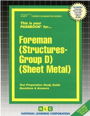 Foreman (Structures-Group D) (Sheet Metal) (Paperback): National Learning Corporation