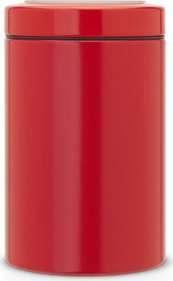 Brabantia Window Lid Canister (1.4 Litre) (Passion Red):