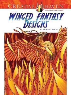 Creative Haven Winged Fantasy Designs Coloring Book (Paperback): Aaron Pocock