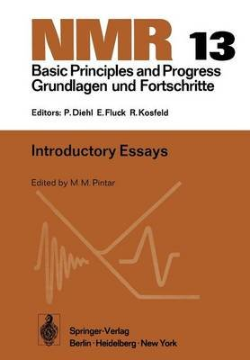 Introductory Essays (Paperback, Softcover reprint of the original 1st ed. 1976): M. M. Pintar