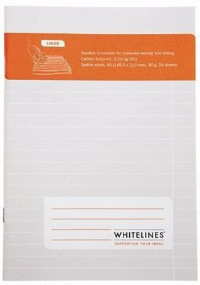 Saddle Stitch A5 Lined Journal (Paperback): Whitelines