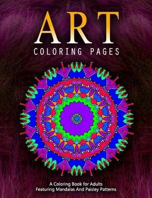 Art Coloring Pages, Volume 4 - Adult Coloring Pages (Paperback): Jangle Charm