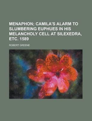 Menaphon (Paperback): Robert Greene