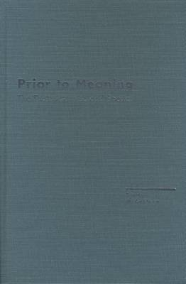 Prior to Meaning - The Protosemantic and Poetics (Hardcover, First): Steve McCaffery