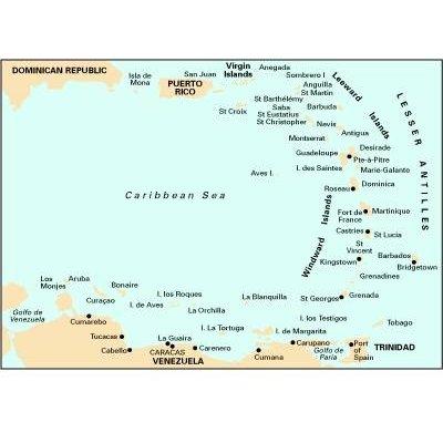Imray Chart 100 - North Atlantic Ocean Passage Chart (Sheet map, folded): Imray
