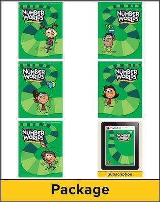 Number Worlds Level D, Student Materials Bundle (5 students, 1-year) (Book): McGraw-Hill Education, Sharon Griffin,...