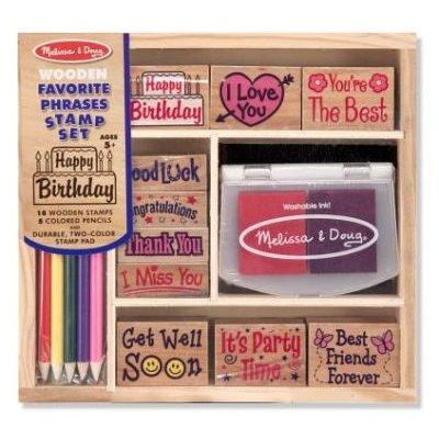 Favorite Phrases Stamp Set: Melissa & Doug