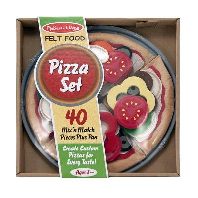 Felt Food Pizza Set (Multiple languages, Novelty book): Melissa & Doug