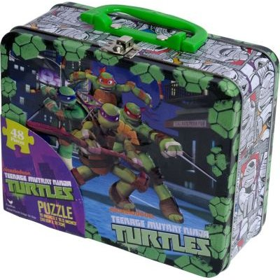 Nickelodeon Teenage Mutant Ninja Turtles Puzzle In Lunchbox Tin (48 Pieces):