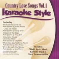 Various - Country Love Songs, Volume 1: Karaoke Style (CD): Various