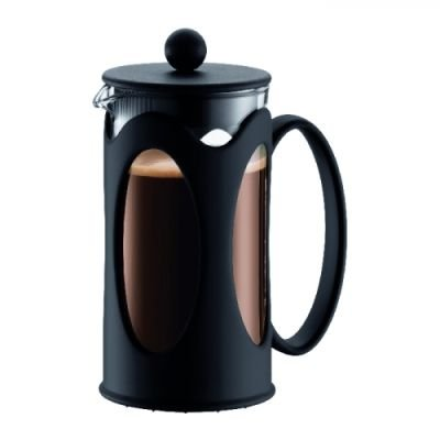 Bodum Kenya Coffee Maker (3 Cup)(350ml)(Black and Clear):