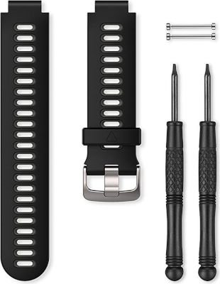 Garmin Replacement Watch Band for Forerunner 735XT (Black and Grey):