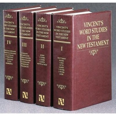 Vincent's Word Studies on the New Testament (Hardcover, 1st Ed): M.R. Vincent