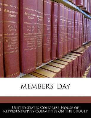 Members' Day (Paperback): United States Congress House of Represen
