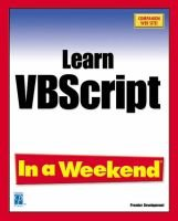 Learn Visual Basic Script in a Weekend (Paperback): Jerry Lee Ford