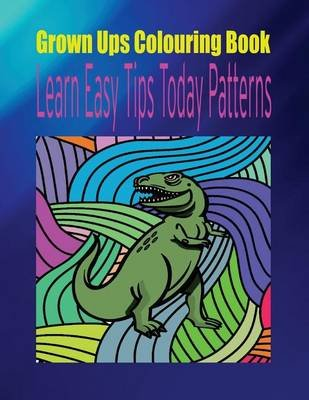 Grown Ups Colouring Book Learn Easy Tips Today Patterns Mandalas (Paperback): Patricia Hardwick