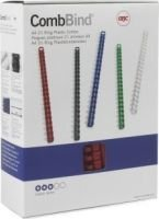 GBC 51mm CombBind 21 Loop Binders (50 Pack)(White):