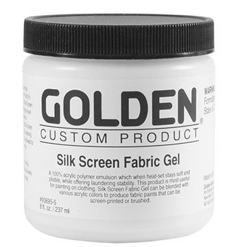Golden Acrylic Medium - Silk Screen Fabric Gel (236ml):