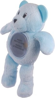 Baby Cubes Baby Bottle Buddy - Blue Teddy: