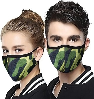 Lebocode Unisex Washable and Reusable Face Mask (Military Camo Print):