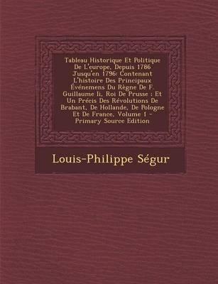 Tableau Historique Et Politique de L'Europe, Depuis 1786 Jusqu'en 1796 - Contenant L'Histoire Des Principaux...