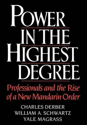 Power in the Highest Degree: Professionals and the Rise of a New Mandarin Order (Electronic book text): Charles Derber, William...