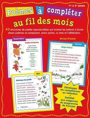 Po?mes ? Compl?ter Au Fil Des Mois (French, Paperback): Betsy Franco