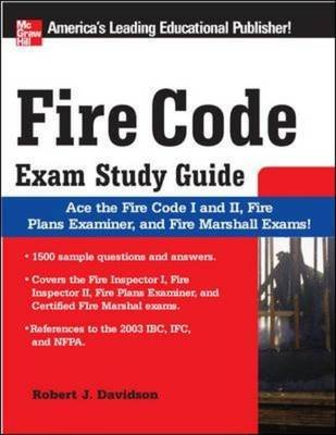 Fire Code Exam - Study Guide (Paperback, illustrated edition): Robert L. Davidson