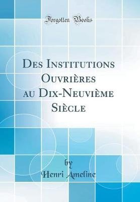 Des Institutions Ouvri res Au Dix-Neuvi me Si cle (Classic Reprint) (French, Hardcover): Henri Ameline