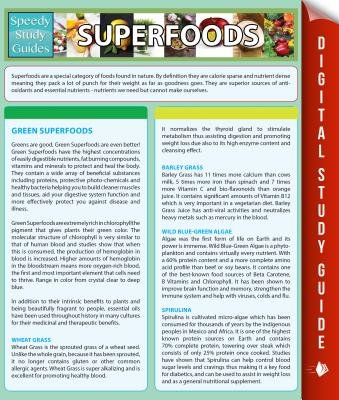 Superfoods (Speedy Study Guides) (Electronic book text): Speedy Publishing LLC
