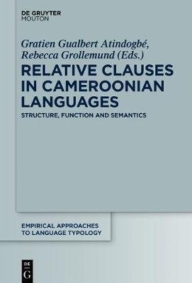 Relative Clauses in Cameroonian Languages - Structure, Function and Semantism (Electronic book text): Gratien Gualbet Atindogbe