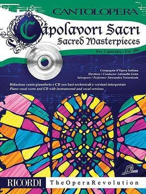 Sacred Masterpieces for Alto - Cantolopera Series (Book): Hal Leonard Corp