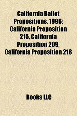 California Ballot Propositions...