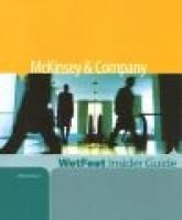 McKinsey & Company (Paperback, illustrated edition): WetFeet.com