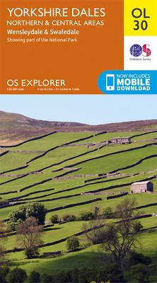 Yorkshire Dales Northern & Central (Sheet map, folded, August 2016 ed): Ordnance Survey
