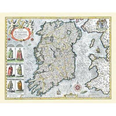 John Speed Map Of Ireland.John Speed Map Of Ireland 1611 20 X 16 Photographic Print Of