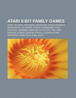 Atari 8-Bit Family Games - Zork, Pac-Man, MIDI Maze, Asteroids, Space Invaders, Mario Bros., Millipede, Rogue, Suspended, Pole...