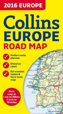 2016 Collins Map Of Europe [New Edition] (Sheet map, New edition):