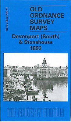Devonport (South) and Stonehouse 1893 - Devon Sheet 123.11 (Sheet map, folded, Facsimile of 1893 ed): Richard Oliver