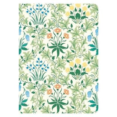 William Morris Celandine Handmade Embroidered Journal (Hardcover): William Morris