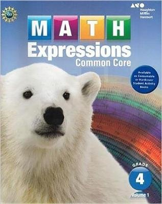 Math Expressions - Student Activity Book, Volume 1 (Softcover) Grade 4 (Paperback): Houghton Mifflin Harcourt