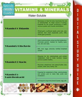 Vitamins & Minerals (Speedy Study Guides) (Electronic book text): Speedy Publishing LLC